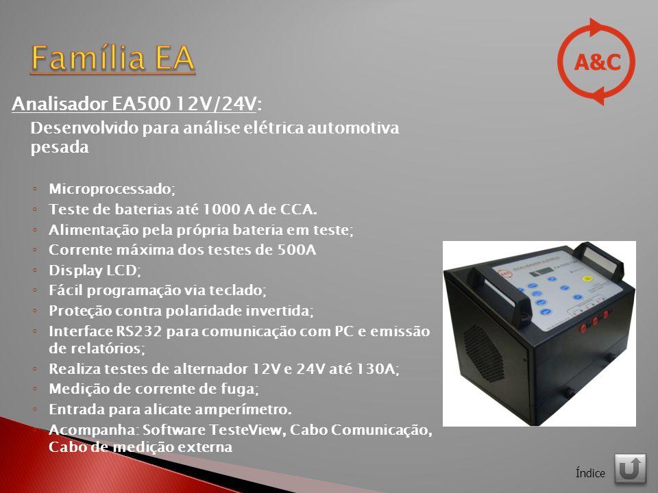 Família EA Analisador EA500 12V/24V: