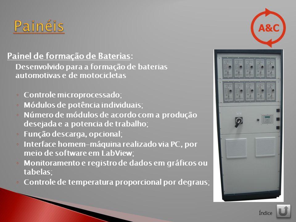 Painéis Painel de formação de Baterias: