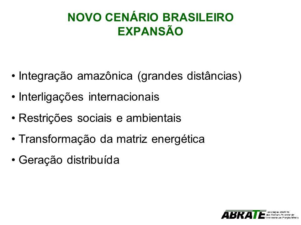 NOVO CENÁRIO BRASILEIRO EXPANSÃO