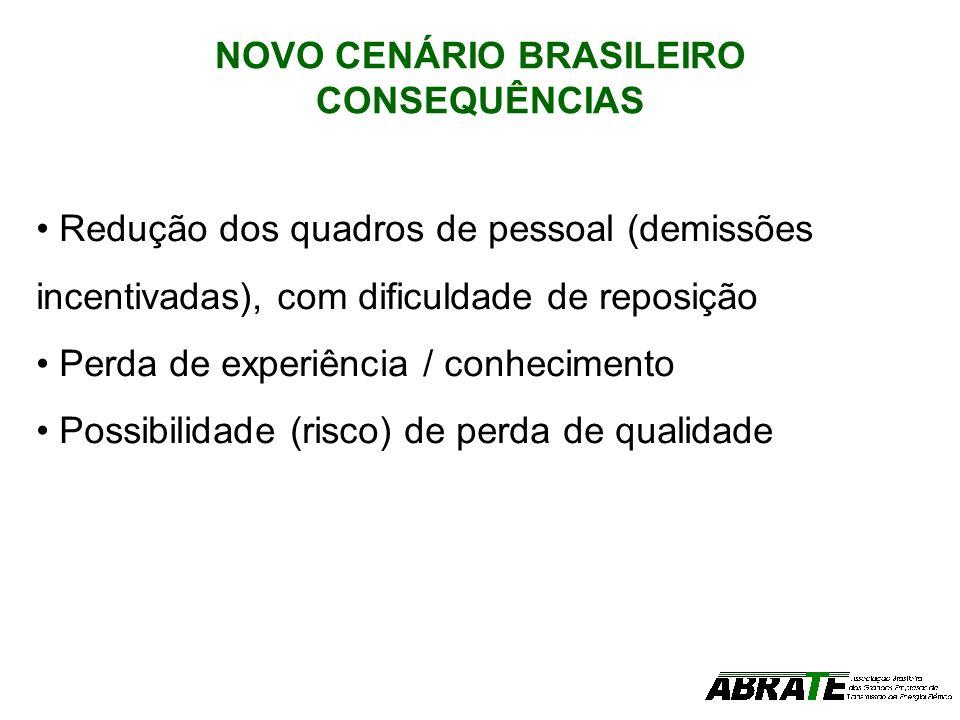 NOVO CENÁRIO BRASILEIRO CONSEQUÊNCIAS