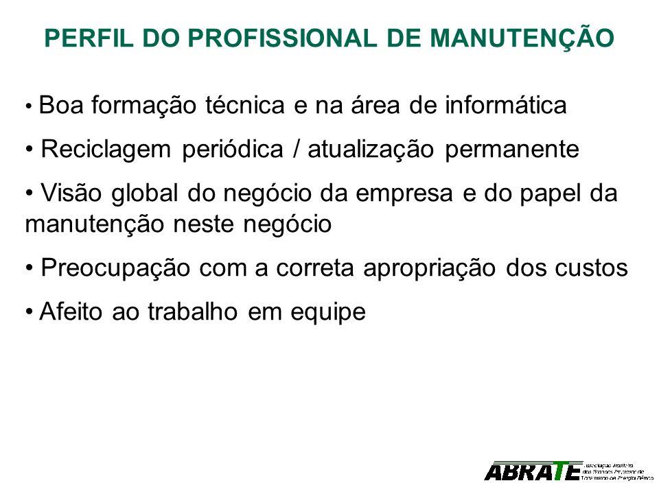 PERFIL DO PROFISSIONAL DE MANUTENÇÃO