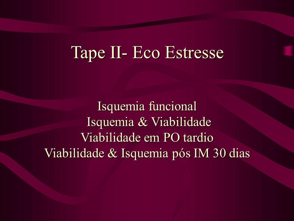 Tape II- Eco Estresse Isquemia funcional Isquemia & Viabilidade