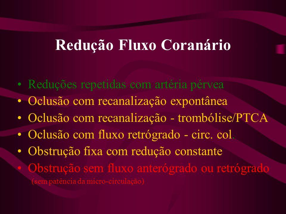 Redução Fluxo Coranário