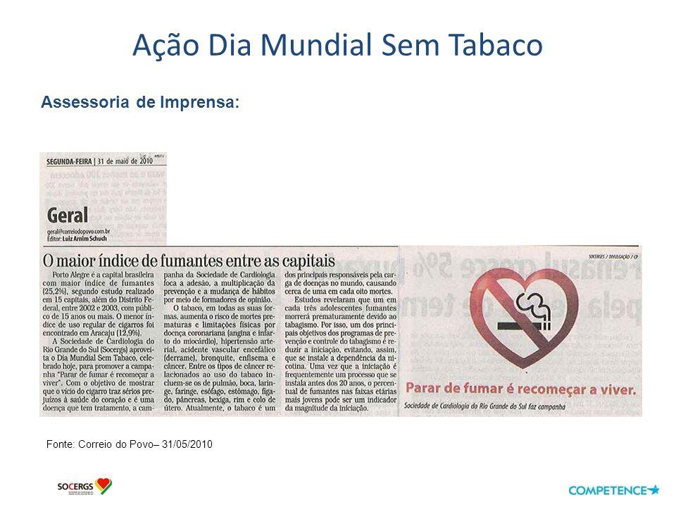 Ação Dia Mundial Sem Tabaco