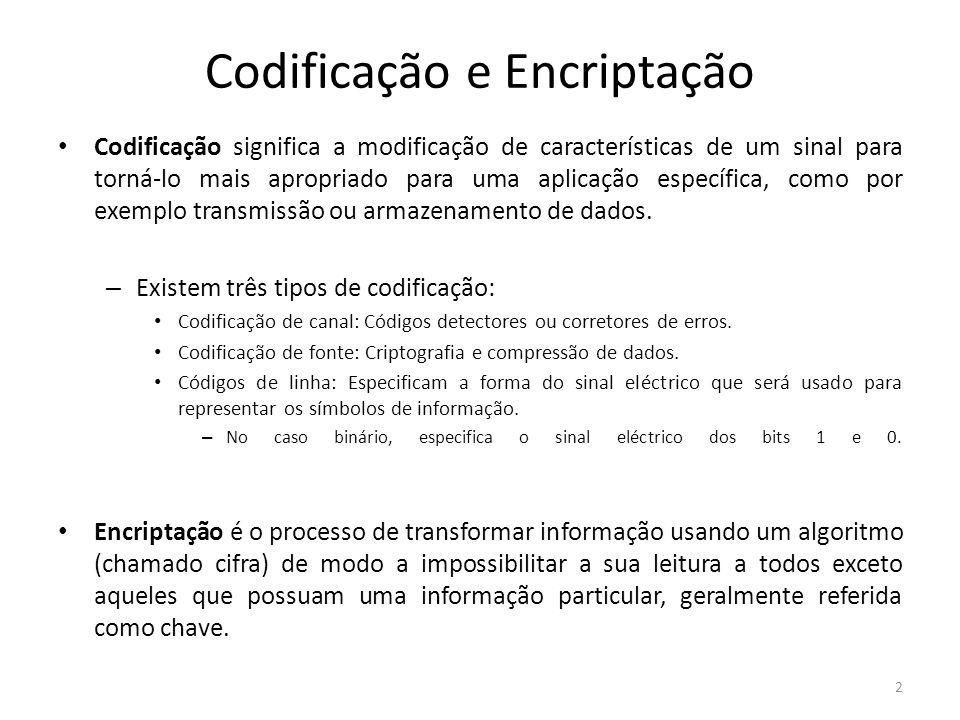 Codificação e Encriptação