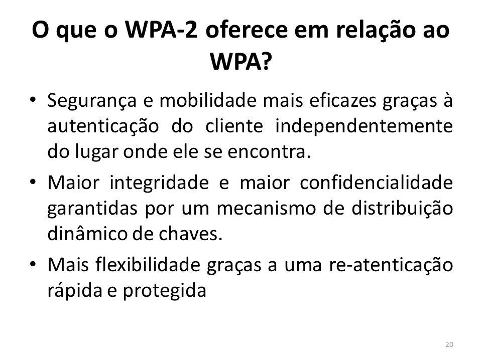 O que o WPA-2 oferece em relação ao WPA