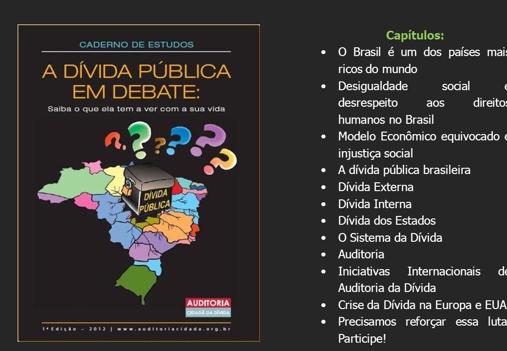 Capítulos: O Brasil é um dos países mais ricos do mundo. Desigualdade social e desrespeito aos direitos humanos no Brasil.