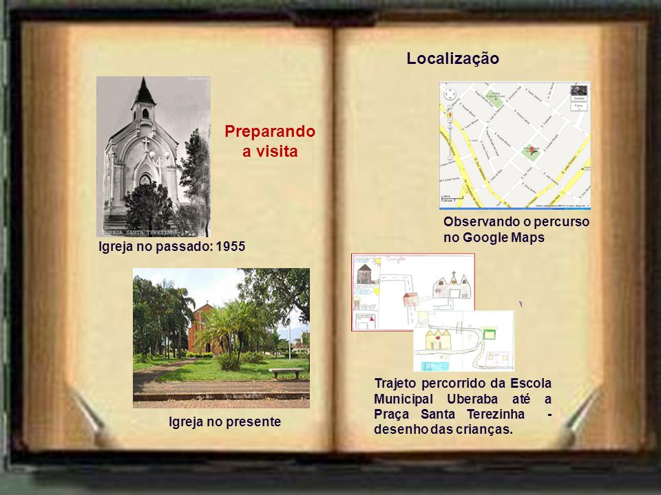 Localização Preparando a visita Observando o percurso no Google Maps