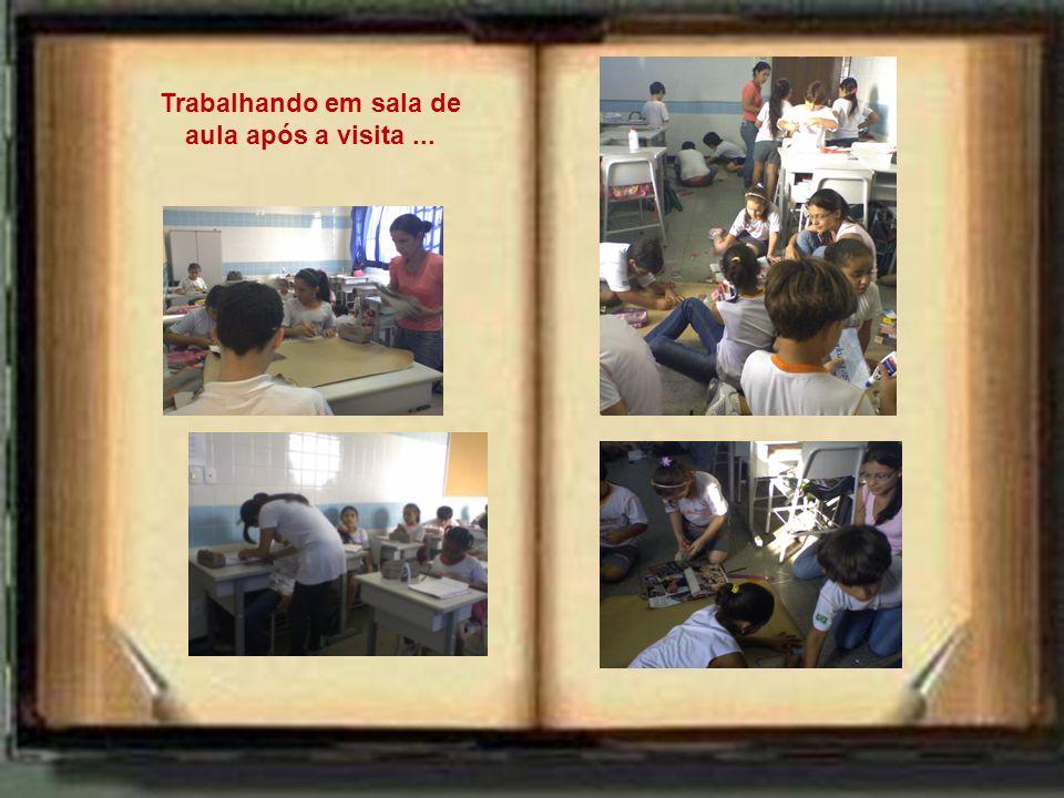 Trabalhando em sala de aula após a visita ...