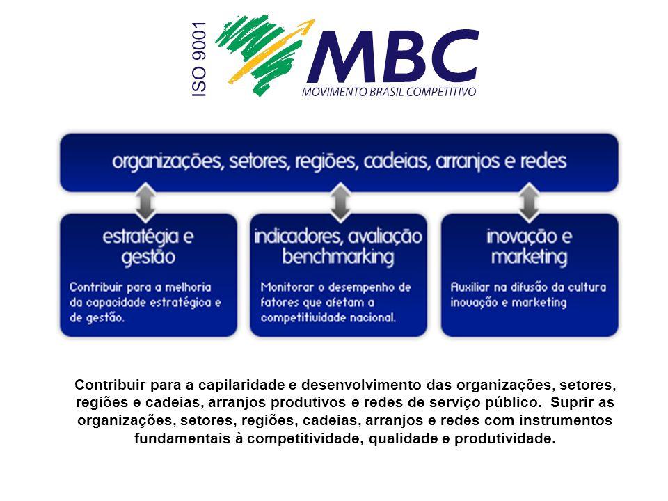 Contribuir para a capilaridade e desenvolvimento das organizações, setores, regiões e cadeias, arranjos produtivos e redes de serviço público.