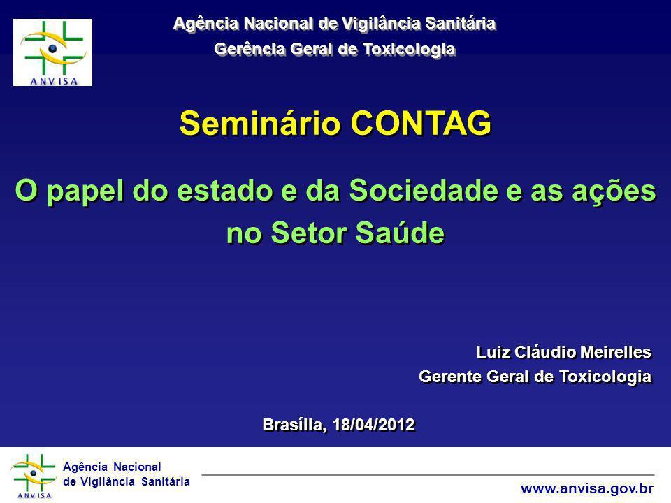 Seminário CONTAG O papel do estado e da Sociedade e as ações