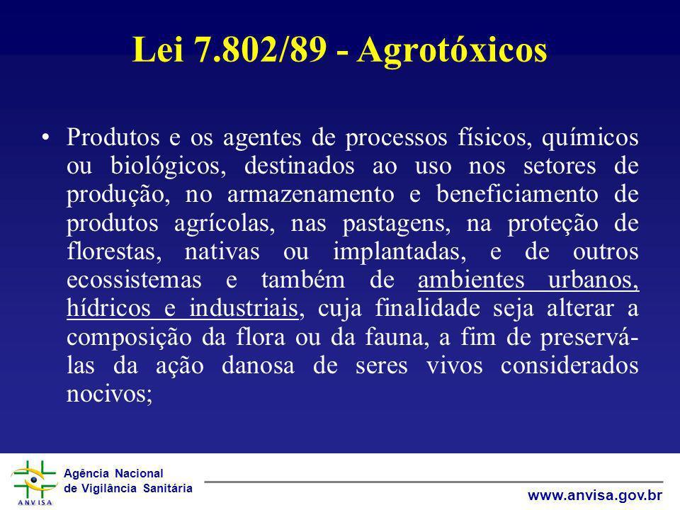 Lei 7.802/89 - Agrotóxicos