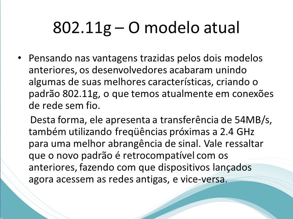 802.11g – O modelo atual