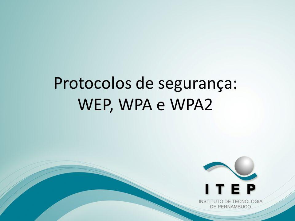Protocolos de segurança: WEP, WPA e WPA2