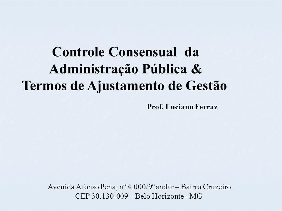 Controle Consensual da Administração Pública &