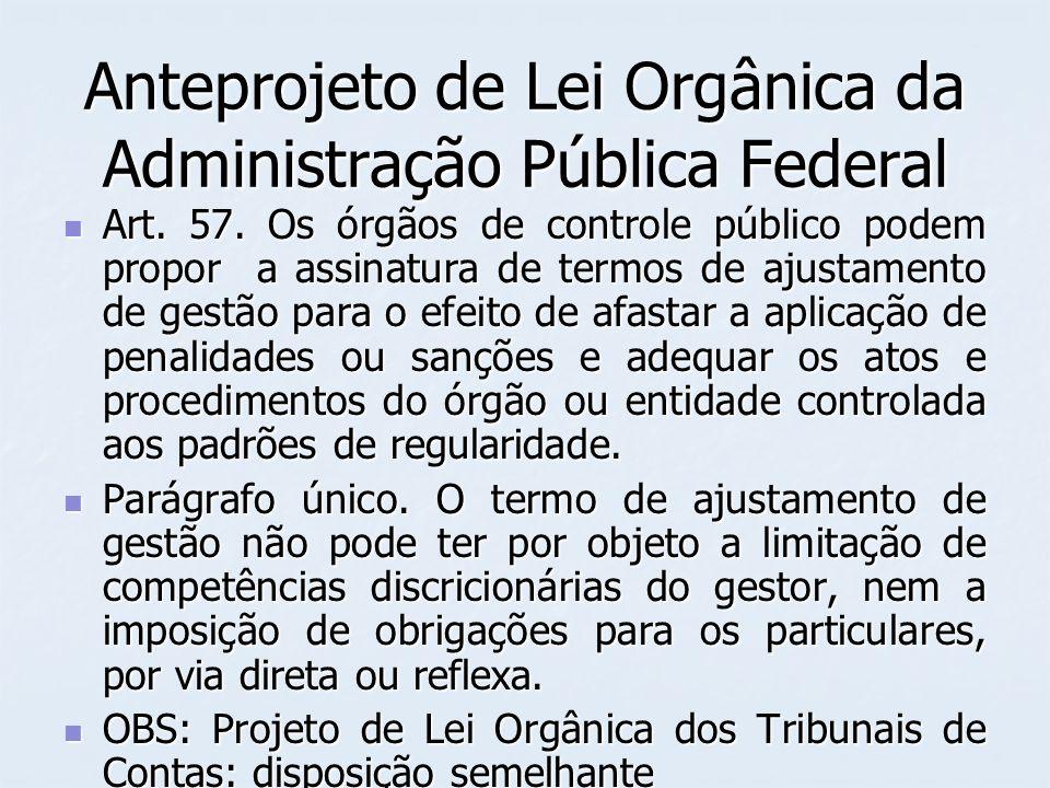 Anteprojeto de Lei Orgânica da Administração Pública Federal