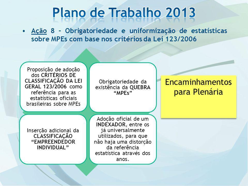 Plano de Trabalho 2013 Encaminhamentos para Plenária