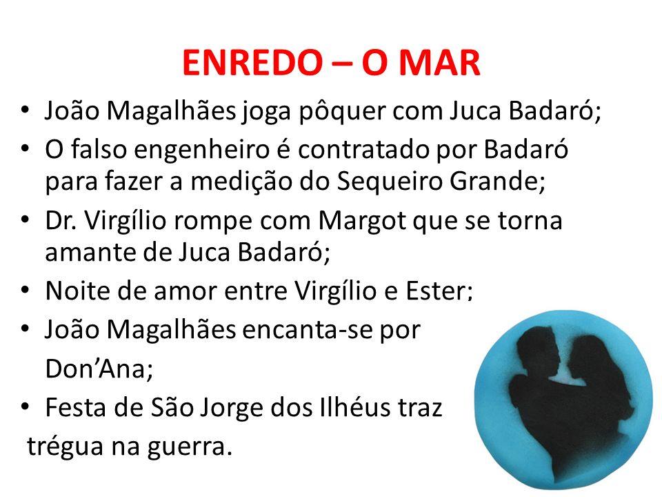 ENREDO – O MAR João Magalhães joga pôquer com Juca Badaró;