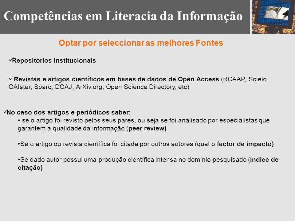 Competências em Literacia da Informação