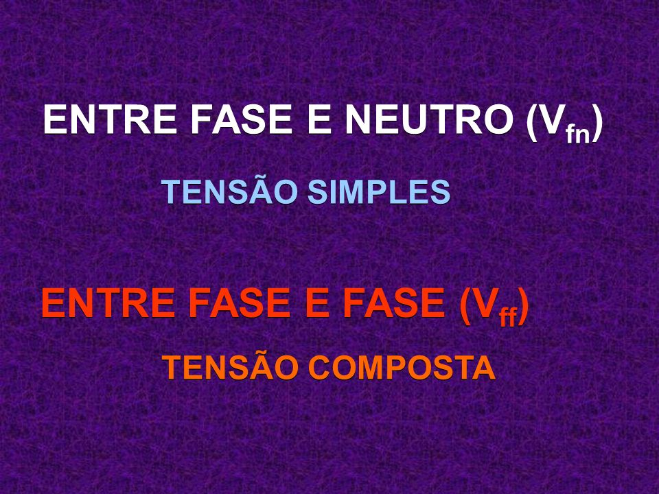 Correntes trif sicas ppt carregar for Fase e neutro colori