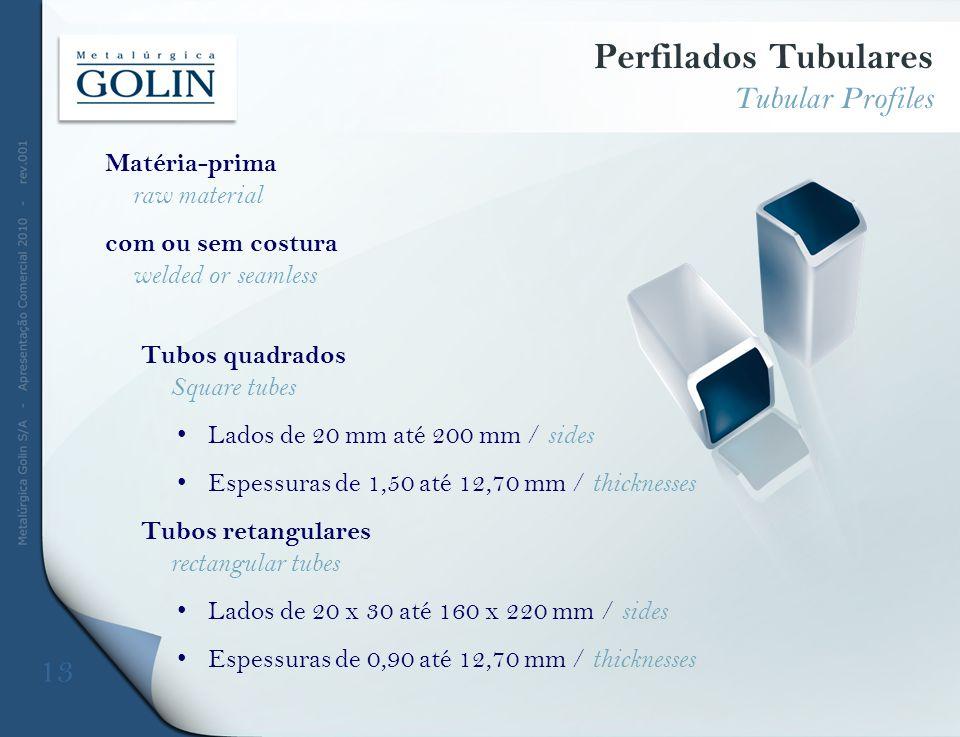 Perfilados Tubulares Tubular Profiles