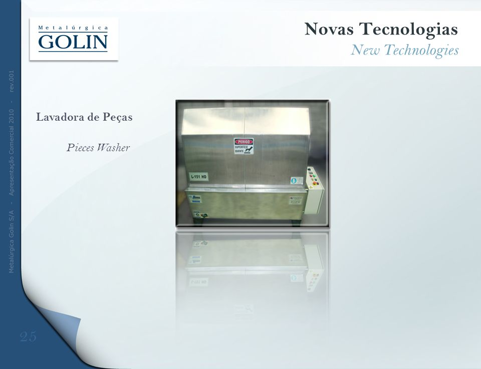 Novas Tecnologias 25 New Technologies Lavadora de Peças Pieces Washer