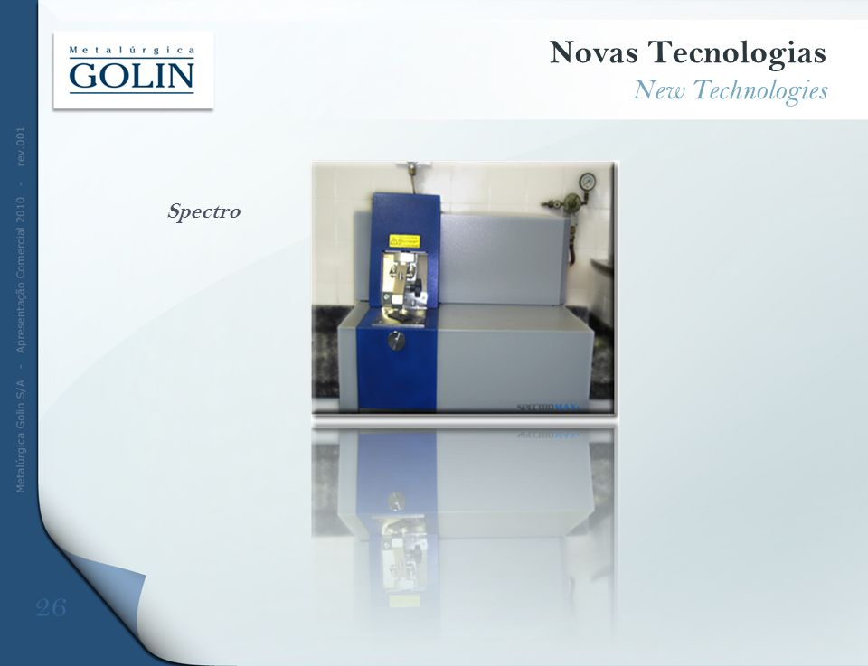 Novas Tecnologias New Technologies Spectro 26 DFDFD
