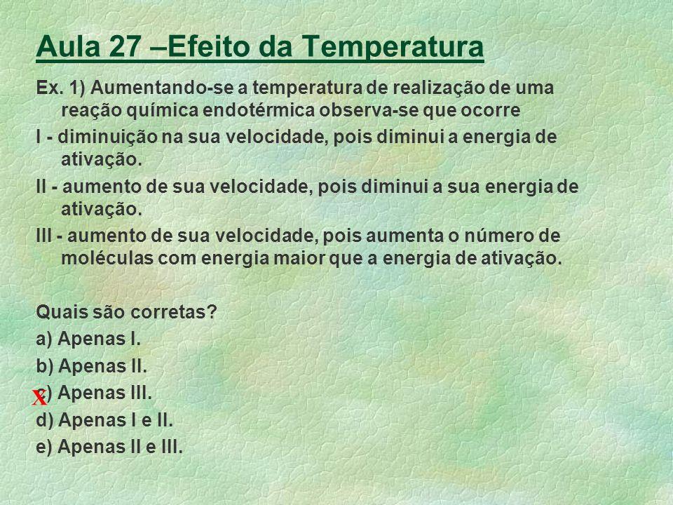 Aula 27 –Efeito da Temperatura