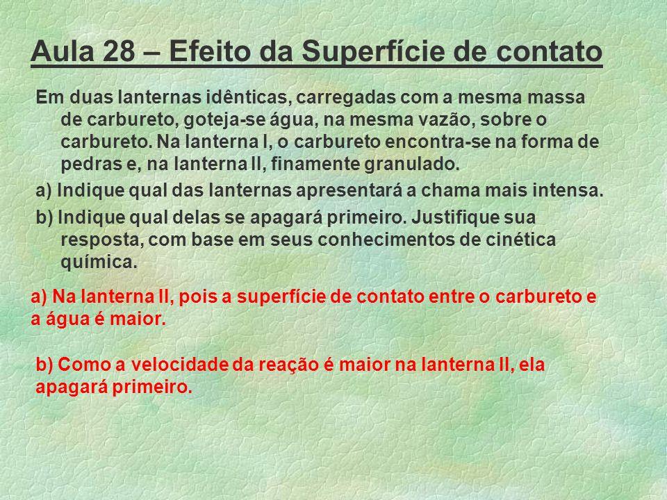 Aula 28 – Efeito da Superfície de contato