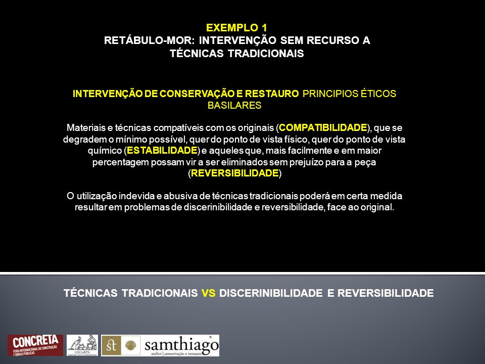 TÉCNICAS TRADICIONAIS VS DISCERINIBILIDADE E REVERSIBILIDADE
