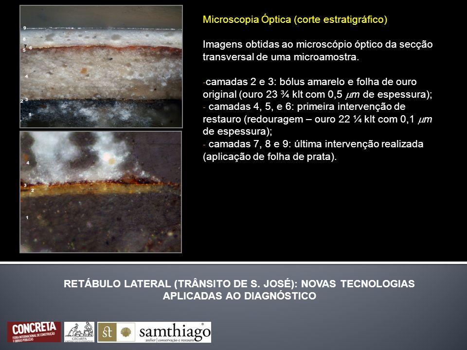 Microscopia Óptica (corte estratigráfico)