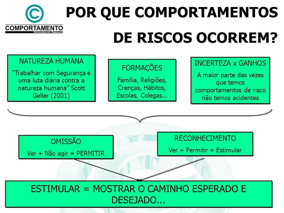 POR QUE COMPORTAMENTOS DE RISCOS OCORREM