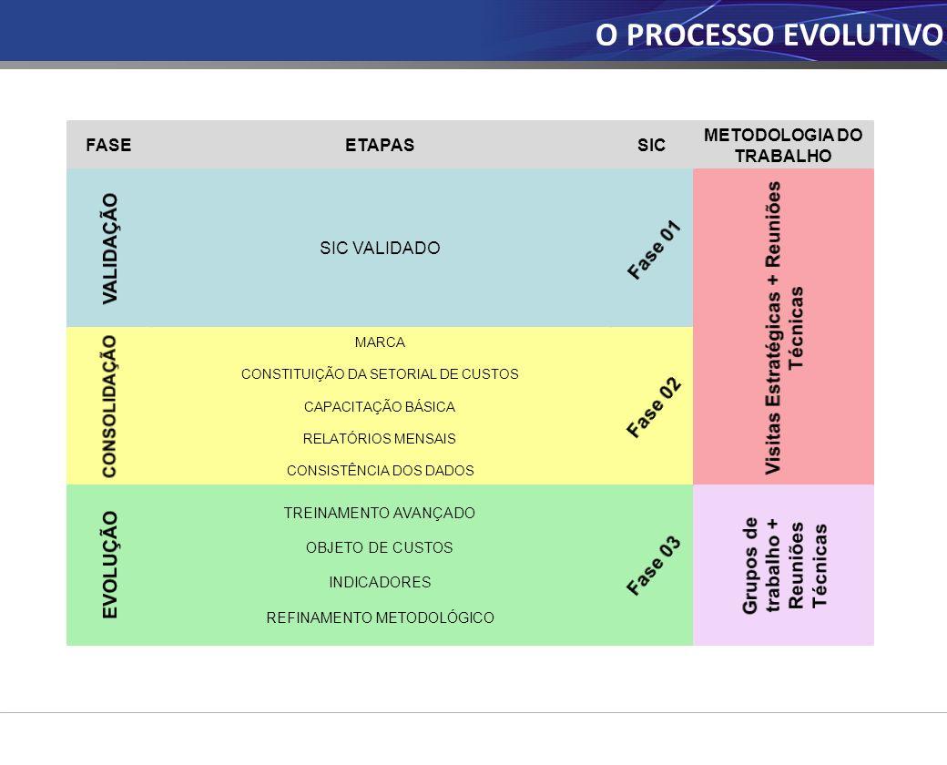 O PROCESSO EVOLUTIVO Visitas Estratégicas + Reuniões Técnicas