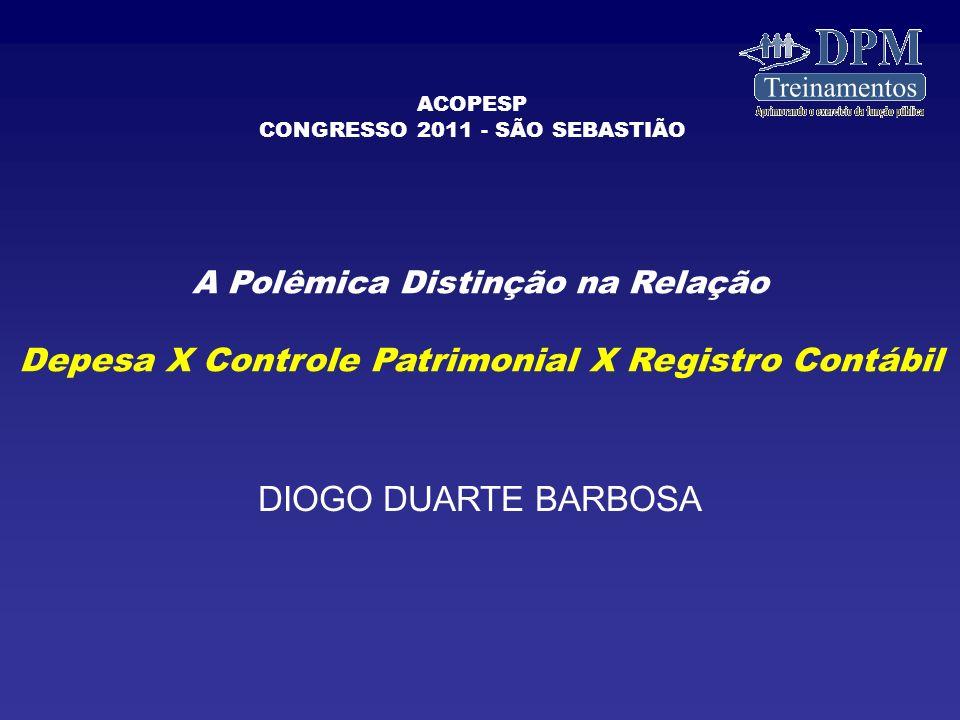 Depesa X Controle Patrimonial X Registro Contábil