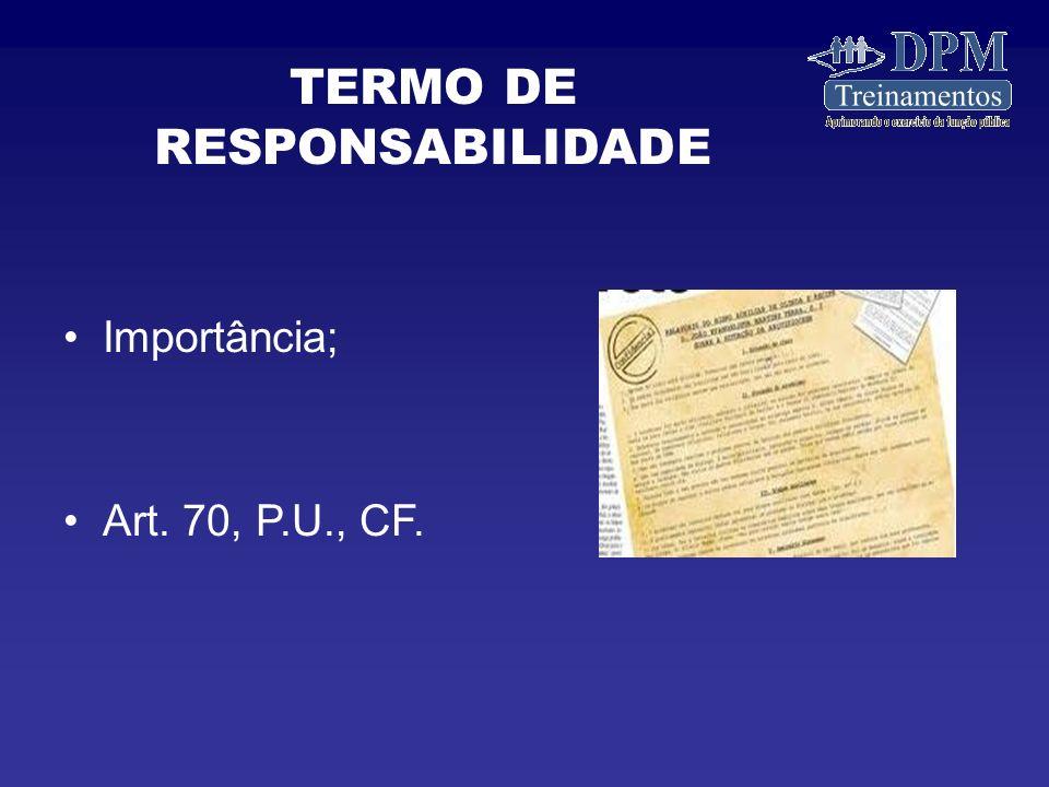 TERMO DE RESPONSABILIDADE