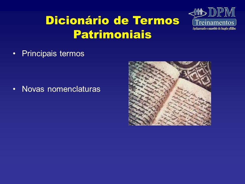Dicionário de Termos Patrimoniais