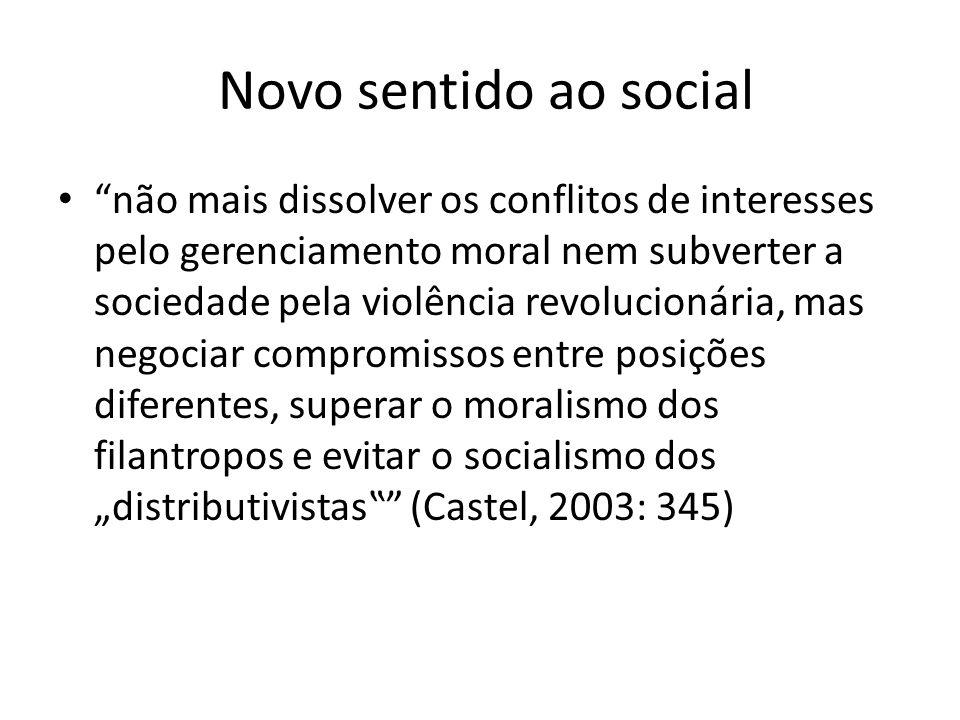 Novo sentido ao social