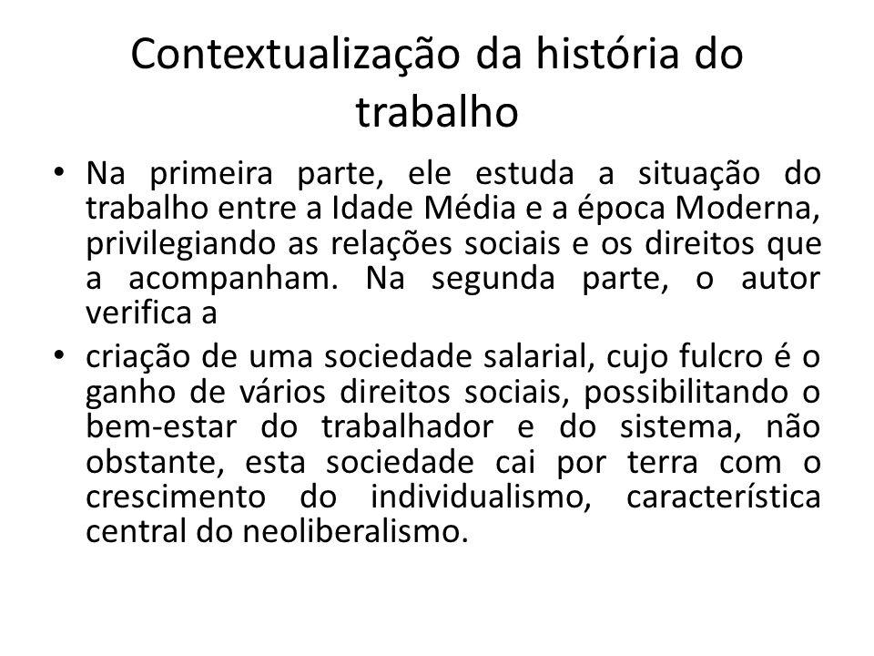 Contextualização da história do trabalho