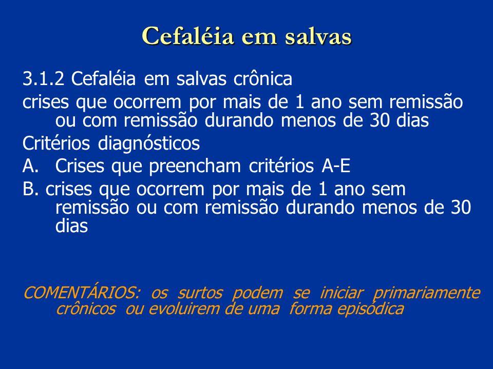 Cefaléia em salvas 3.1.2 Cefaléia em salvas crônica