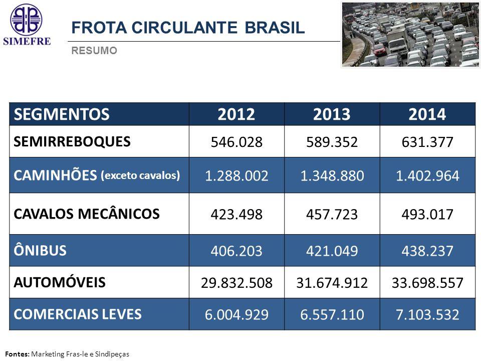 SEGMENTOS 2012 2013 2014 FROTA CIRCULANTE BRASIL SEMIRREBOQUES 546.028