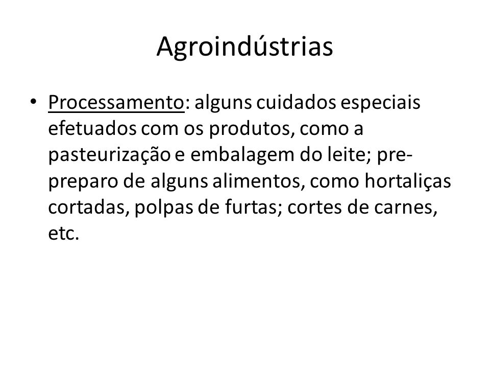 Agroindústrias