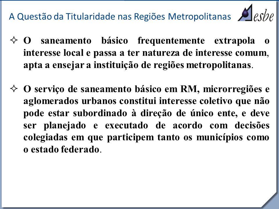 A Questão da Titularidade nas Regiões Metropolitanas