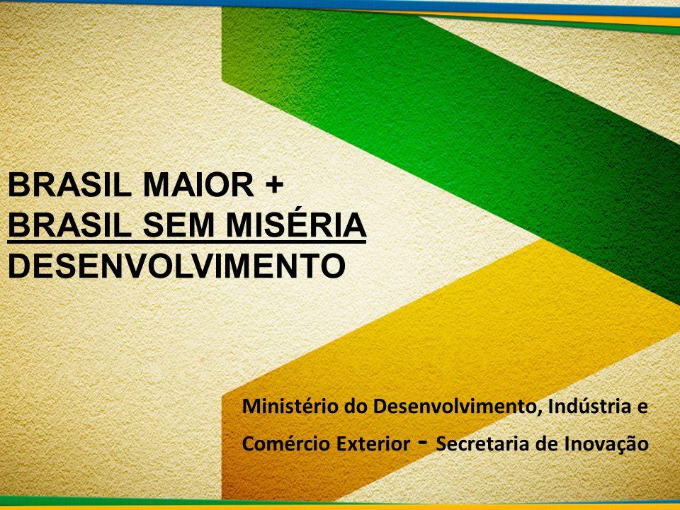 BRASIL MAIOR + BRASIL SEM MISÉRIA DESENVOLVIMENTO