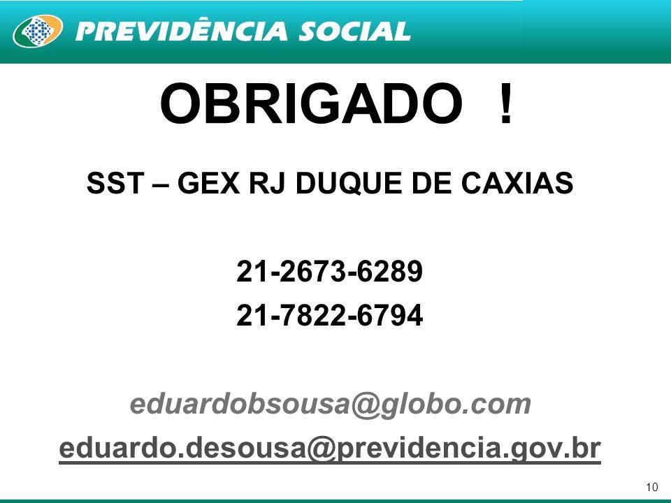 SST – GEX RJ DUQUE DE CAXIAS