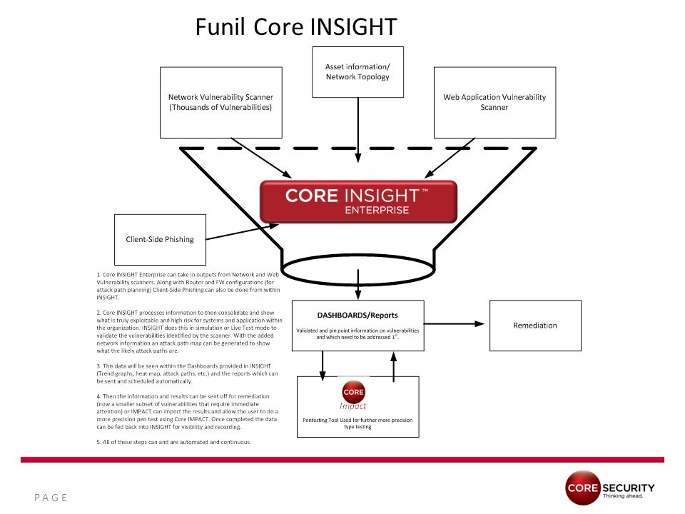 Funil Core INSIGHT Vulnerability scanners deployed on your network