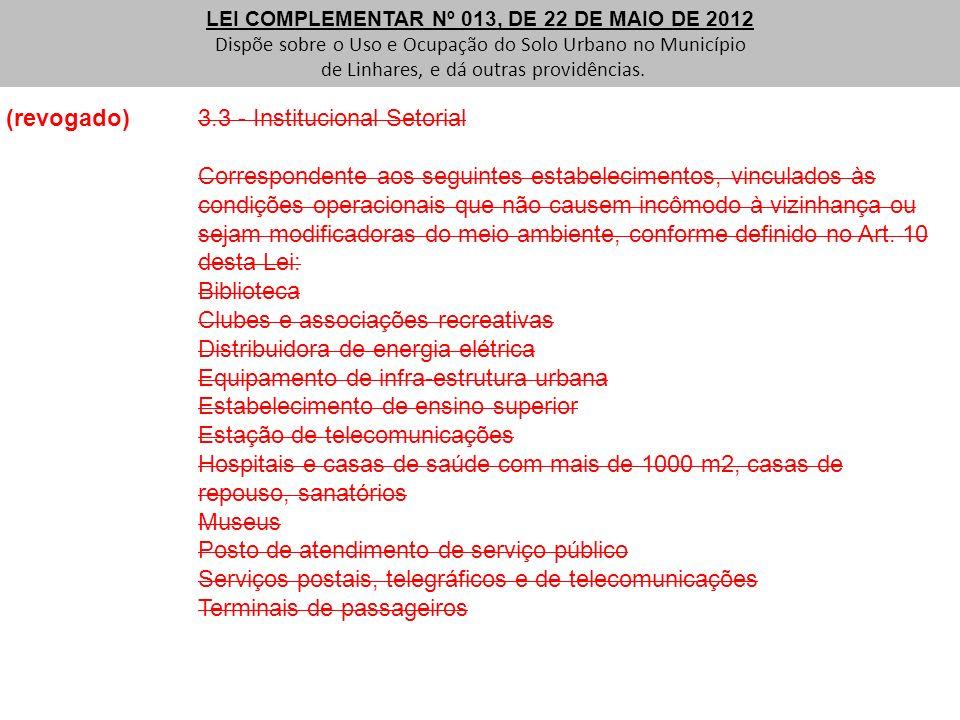 (revogado) 3.3 - Institucional Setorial