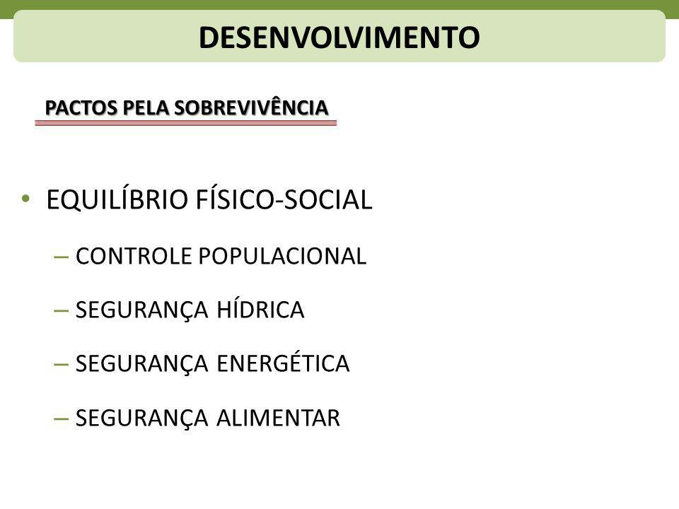 DESENVOLVIMENTO EQUILÍBRIO FÍSICO-SOCIAL CONTROLE POPULACIONAL