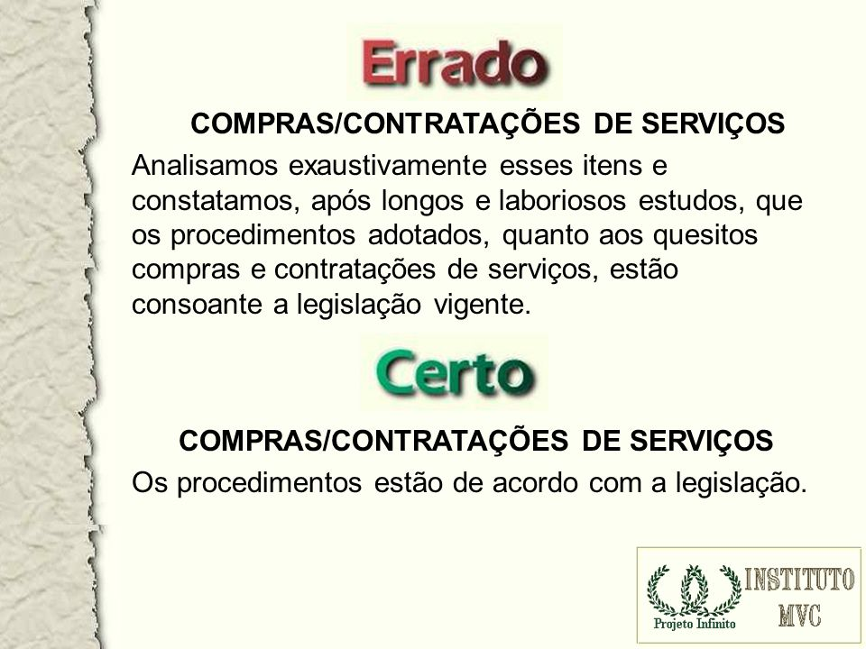 COMPRAS/CONTRATAÇÕES DE SERVIÇOS