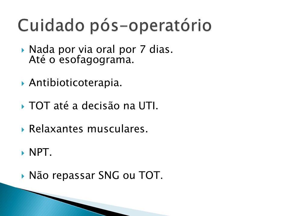Cuidado pós-operatório