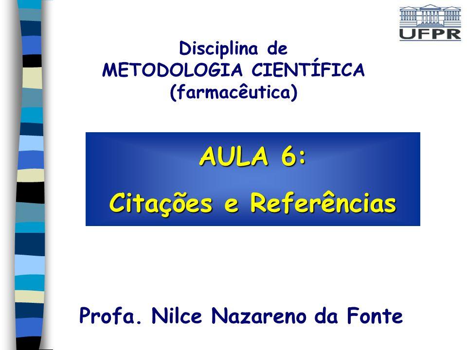AULA 6: Citações e Referências